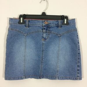 GLO Juniors Sz 9 Denim Cotton Blend Mini Skirt